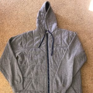Matix Men's Grey, Quilted Hooded Jacket